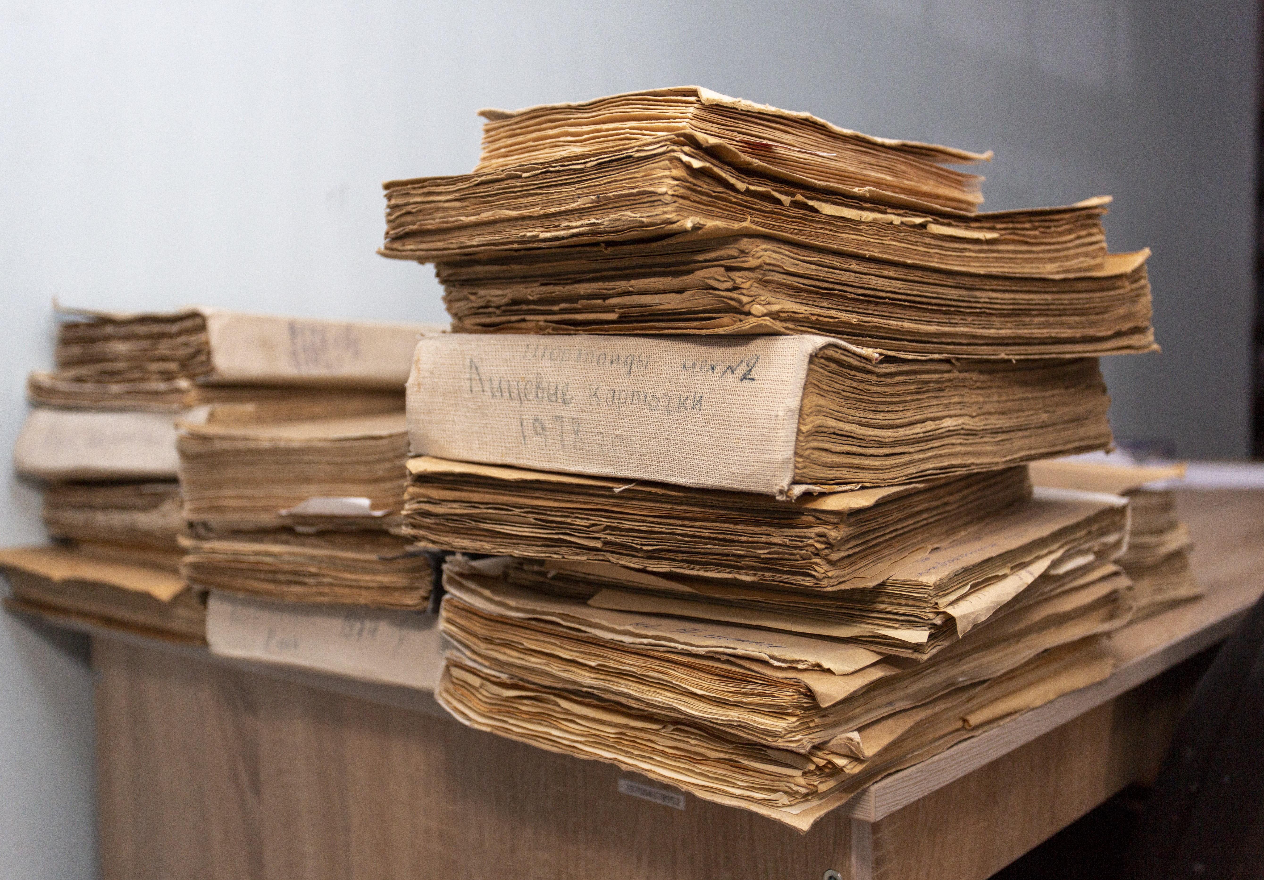 Волонтерская работа с документами Архива